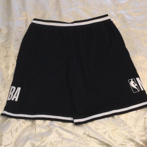 NBA-Men's Black Basketball Shorts-Size XXL